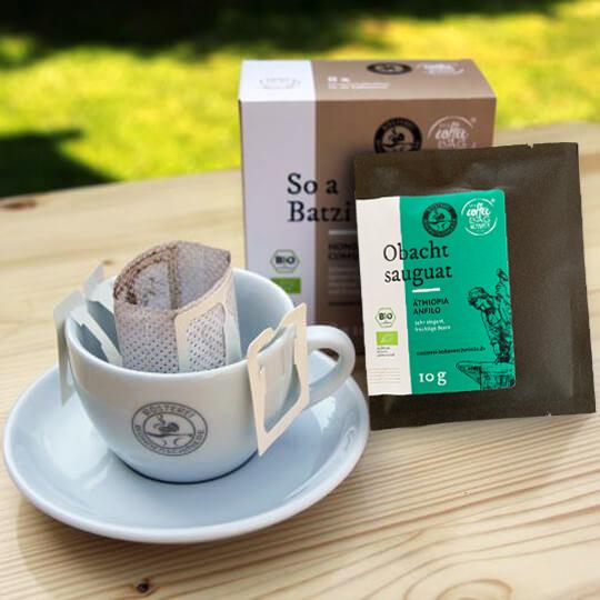 Express Kaffee: 4 echte KaffeePflanzen + 4 Portionen Bio-Kaffee